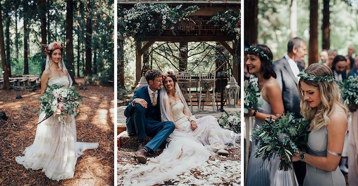 Image robe champetre chic robe de mariée fluide robe magnifique