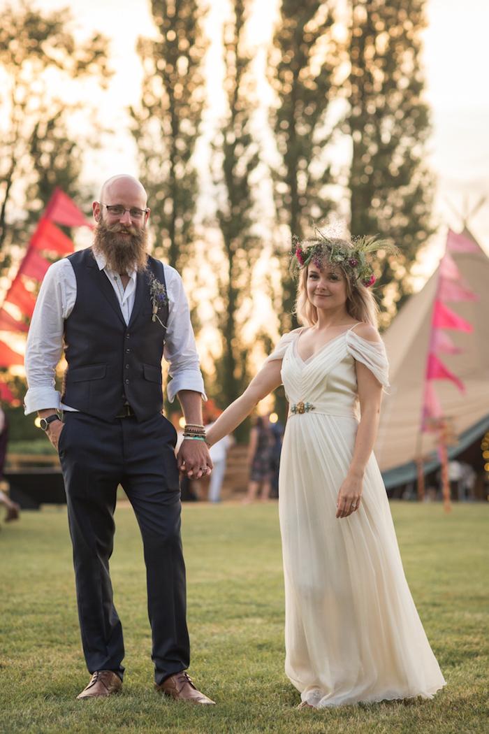 Jolie robe mariee boheme robe de mariée fluide robe pour mariage