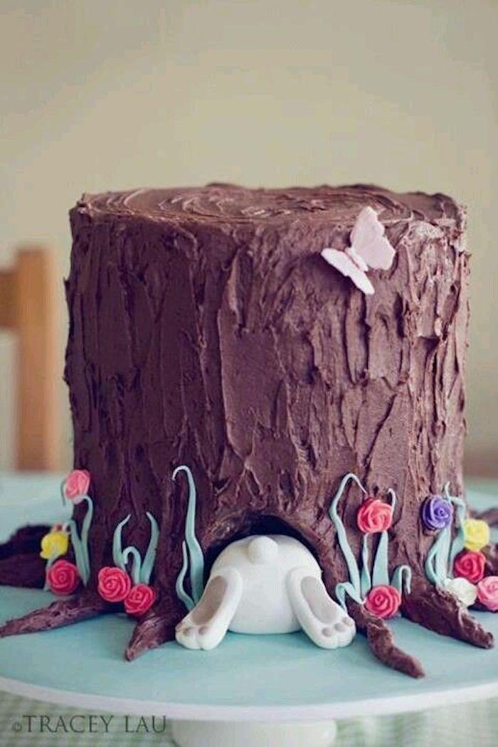 Decoration paques facile déco de Pâques idée cool gâteau au chocolat paques