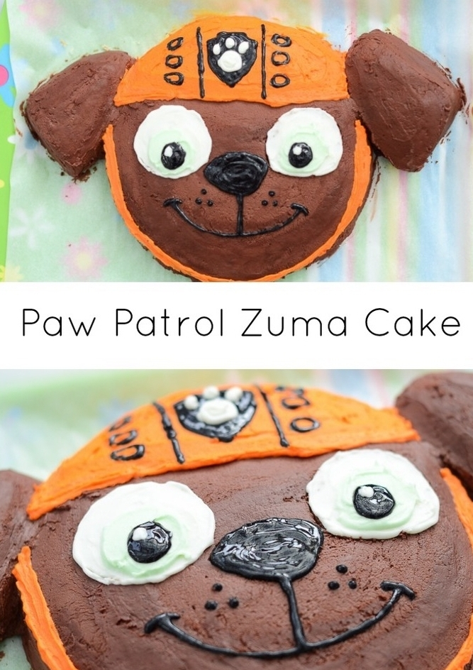 idée gateau anniversaire zuma très facile à réaliser et à décorer pour un anniversaire à thème la pat patouille