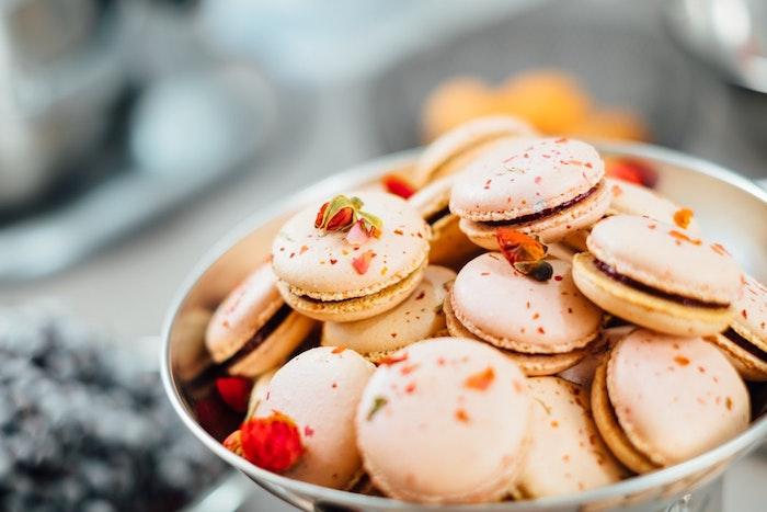 Les macarons français pour fond d'écran rose aromate idée image pour ordinateur
