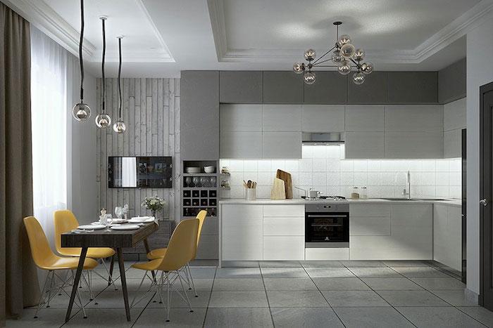 1001 Idees Deco Cuisine Gris Et Blanc Sobre Et Efficace