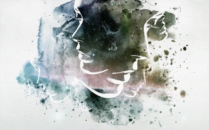 Art abstrait desktop pour fille visages art portrait pour le fond d écran de fille