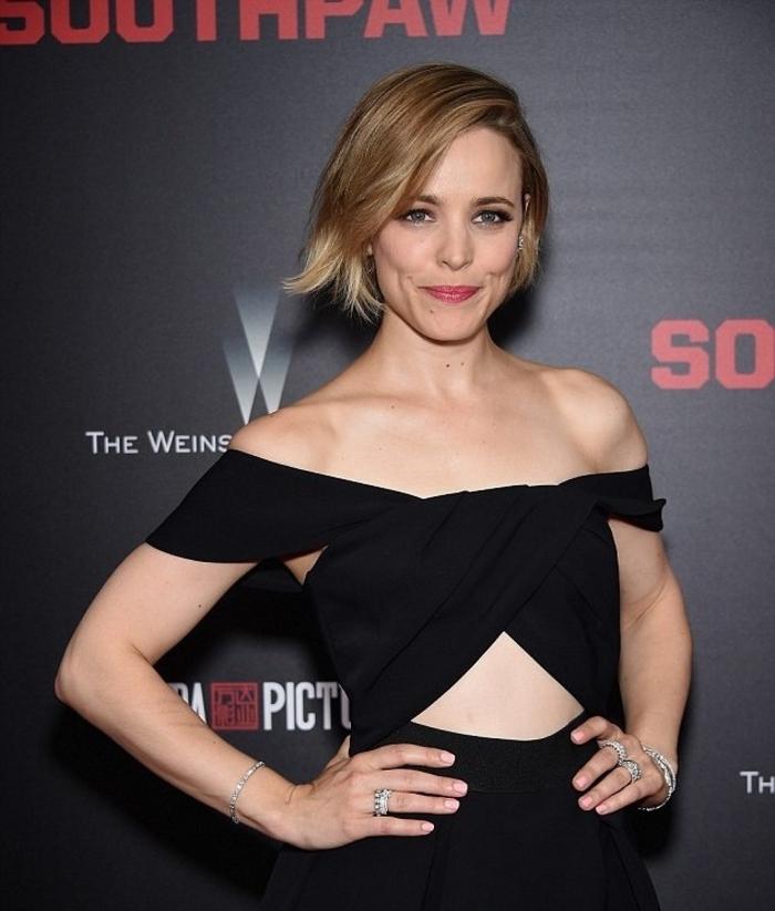 une coiffure courte femme qui associe douceur et modernité, un carré ombré hair tendance avec raie sur le côté