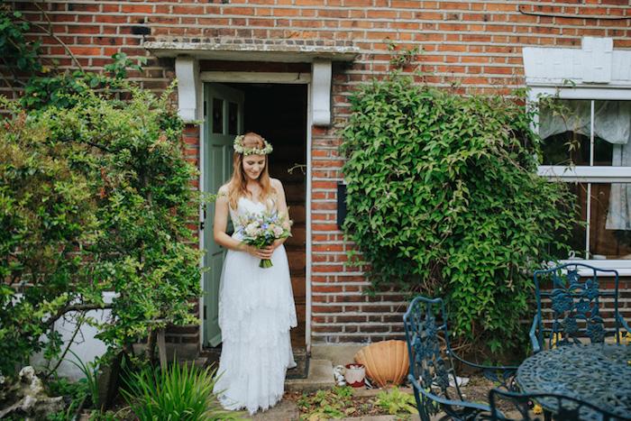 Magnifique robe de mariée simple robe boheme mariage