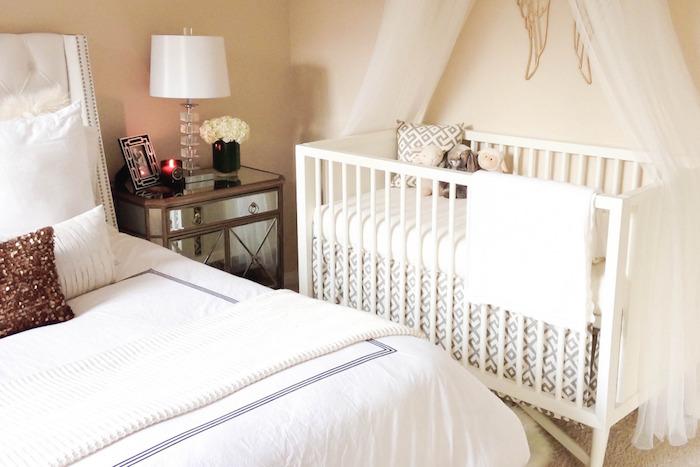 aménagement petite chambre de parents avec lit bébé et inspiration chambre adulte