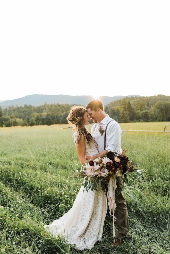 Cool idée robe boheme mariage robe de mariée vintage blanche