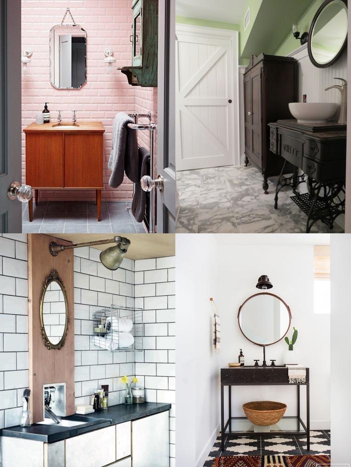 idee deco salle de bain d'esprit récup et vintage pour une ambiance authentique et personnalisée