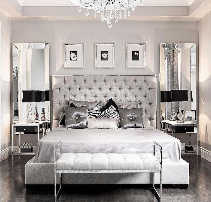 décoration chambre palace luxe, deco haut de gamme pour suite parentale