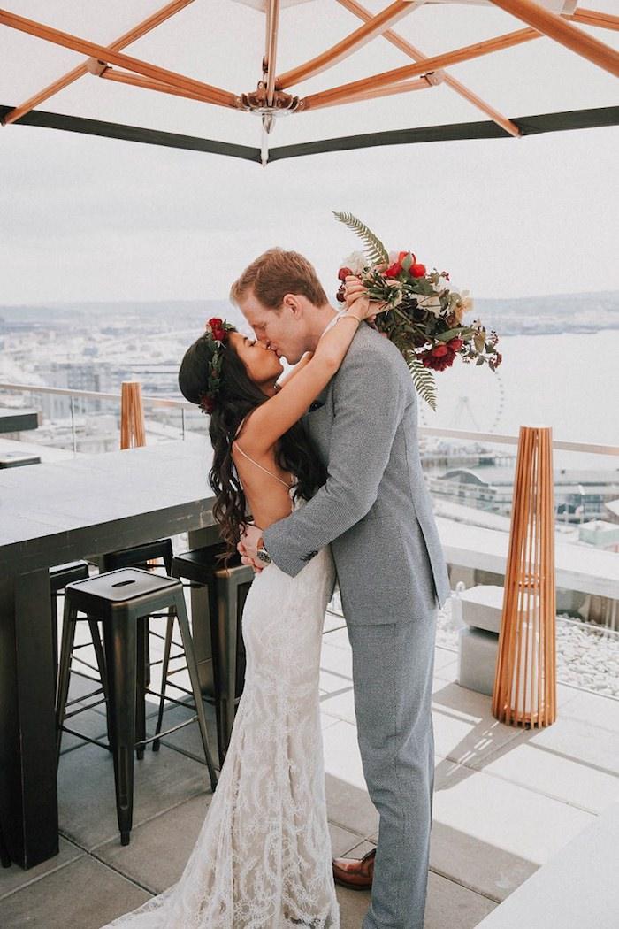 Mariage robe de mariée fluide robe de mariée originale longue robe mariage