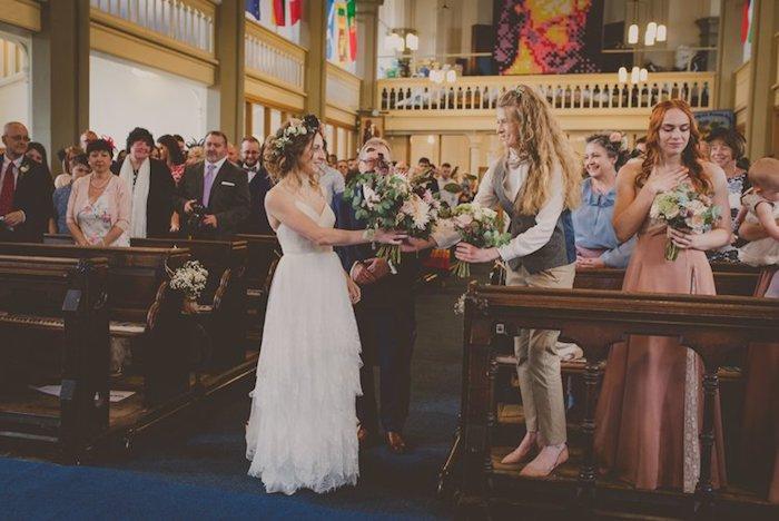 Mariée bohème chic robe de mariée simple et chic robe de marie dentelle
