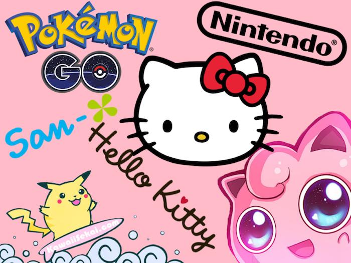 Fond ecran iphone 6 fond d'écran fille fond d'écran rose fond d'écran fille swag pokemon hello kity pikachu
