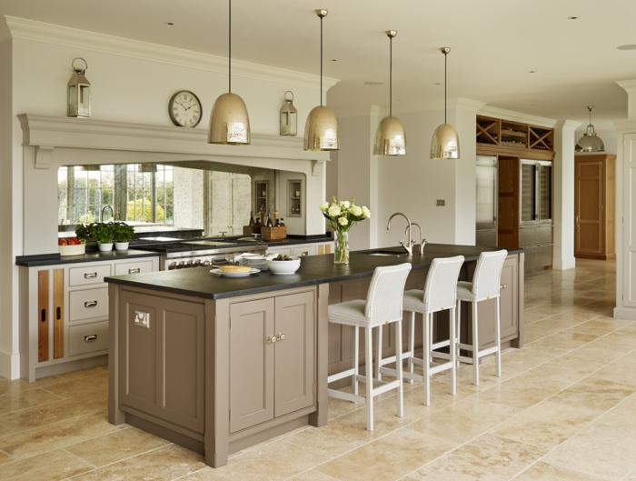 beautiful kitchen island designs 1001 variantes de la cuisine 233 quip 233 e moderne 4393