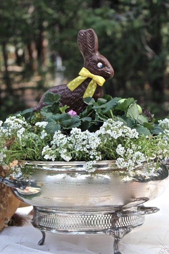 Decoration paques facile deco de paques jolie déco chocolat lapin mignon idee deco paques