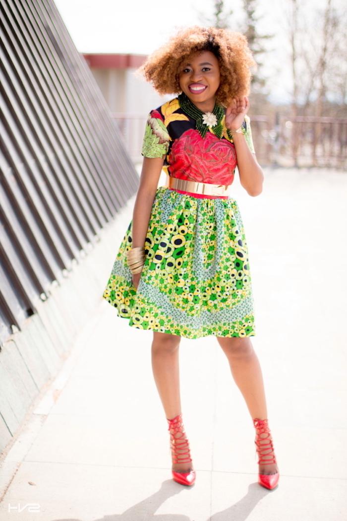 Robe ethnique africaine chic tenue africaine femme idée robe coloré pour le printemps
