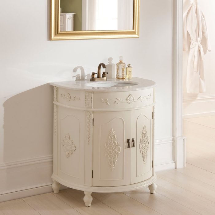 meuble salle de bain original au look rétro chic