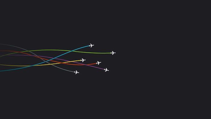 Belle image fond d'écran fille idee pour les filles inspiration photo pour fille lignes colorées aéroplane