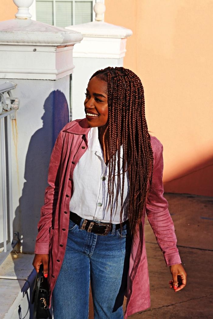 modele tresse africaine avec rajouts, cheveux longs naturels tressées, coiffure avec nattes africaines