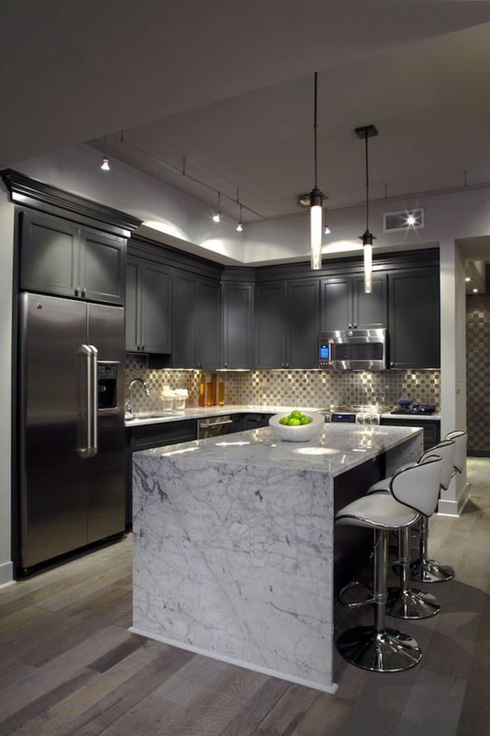1001 variantes de la cuisine quip e moderne. Black Bedroom Furniture Sets. Home Design Ideas