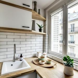 Cuisine laquée blanche - une sensation de luxe, le triomphe de la lumière
