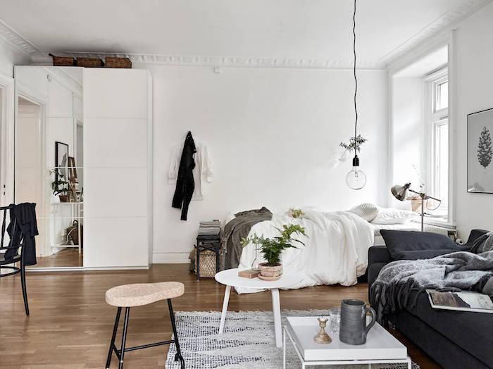 Chambre à coucher style scandinave déco nordique meuble nordique simple idée déco