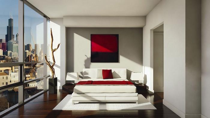 decoration de chambre adulte moderne et design. idée de déco minimaliste pour chambre haut de gamme