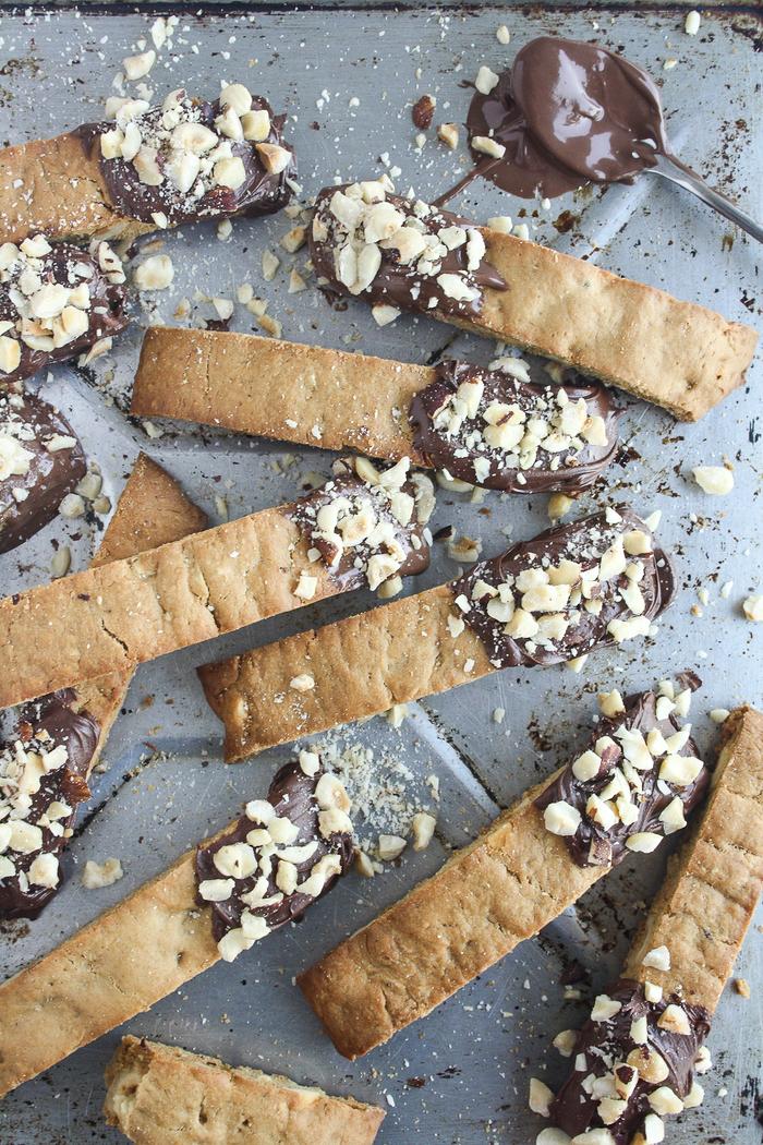 recette de cantuccini au nutella et aux noisette, recette cookies nutella façon biscottes à l'italienne