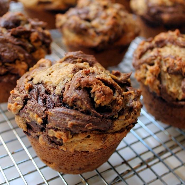 muffin nutella ultra moelleux et délicieux idéal pour un brunch entre amis ou un goûter gourmand