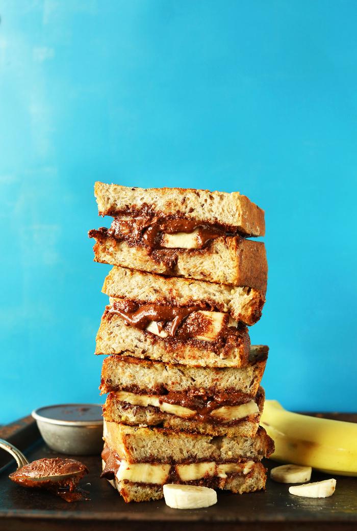 recette de pain perdu à la banane et pâte à tartiner façon butella maison en version vegan