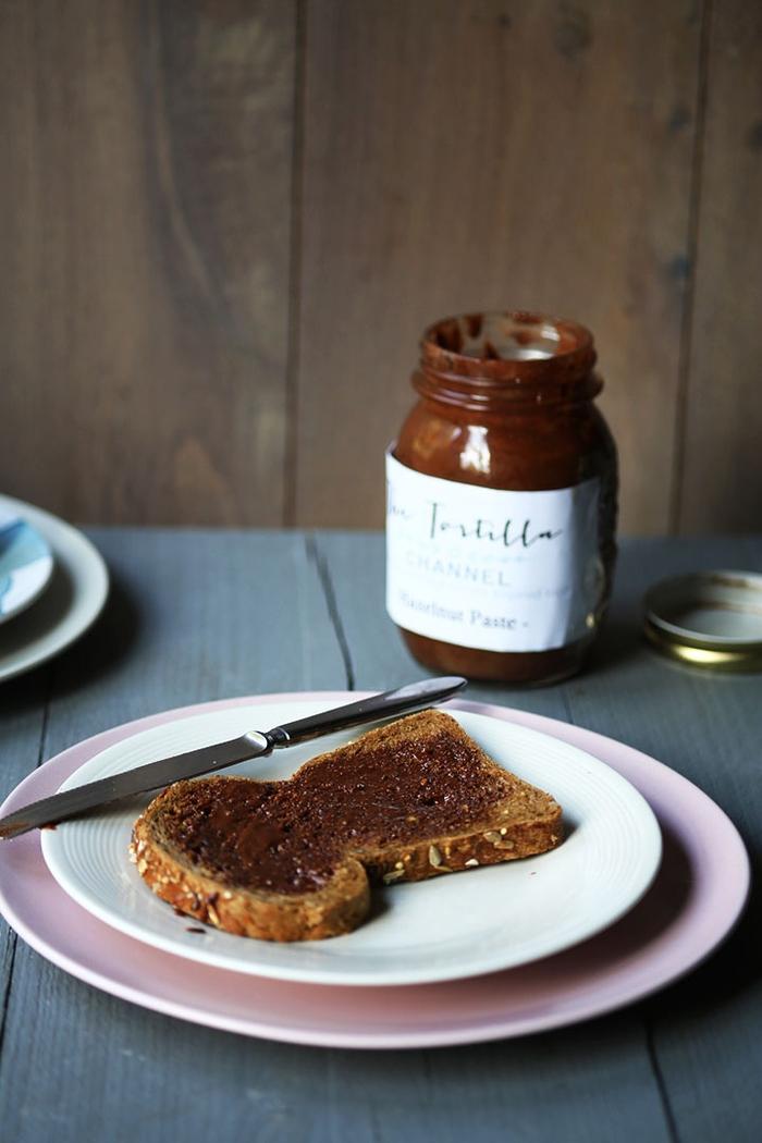 idée pour une recette nutella maison que vous pouvez offrir en cadeau dans un joli pot à étiquette personnalisée