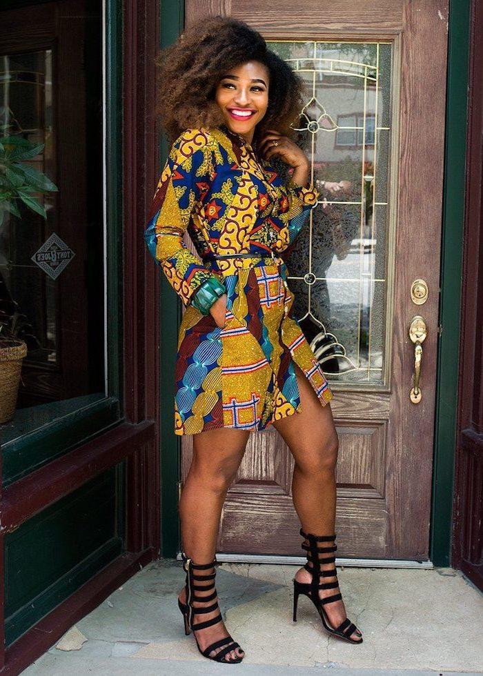 Tenue robe africaine très chic 2017 modele de robe africaine chic coloré