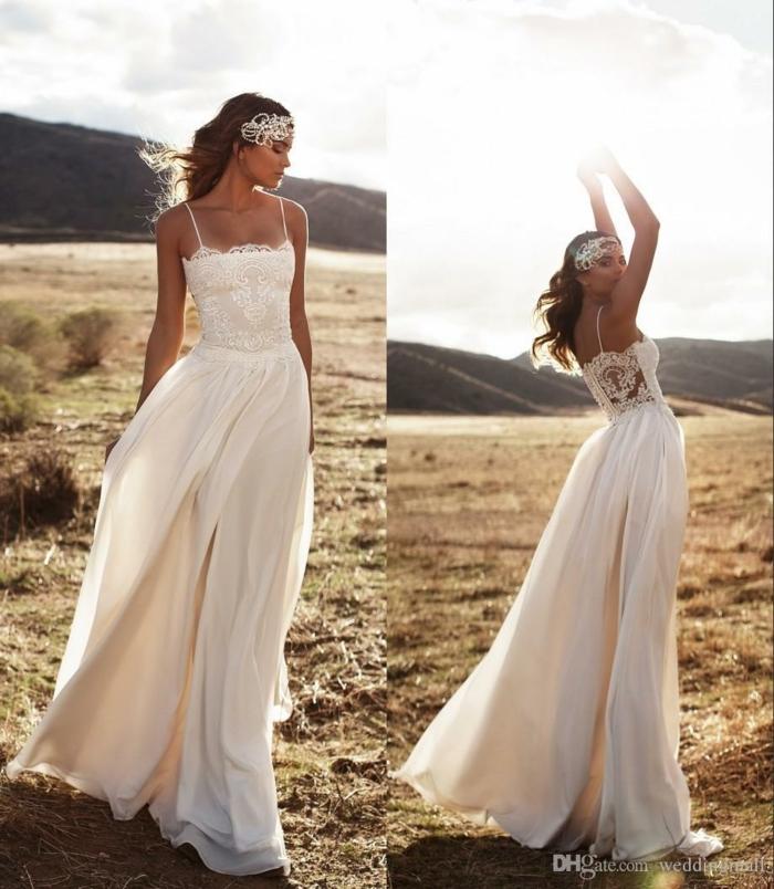 quelle robe pour un mariage rustique, dos dénudé, dentelle et matière satinée