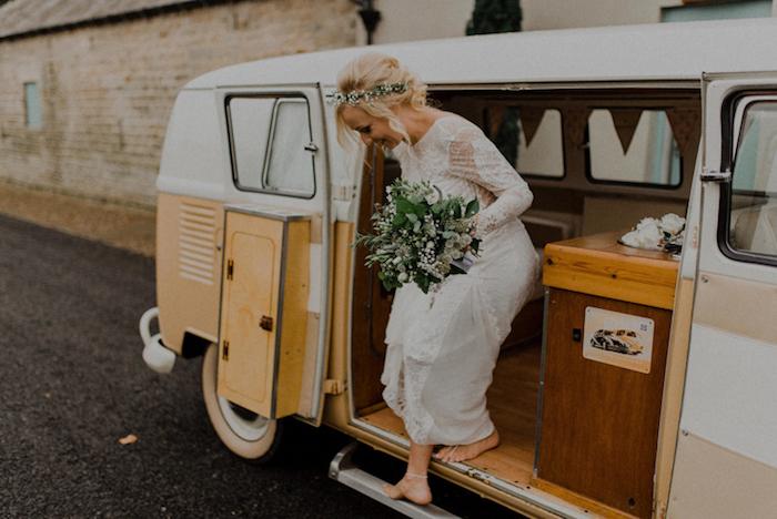Tenue mariage robe de mariée bohème chic robe de mariée vintage