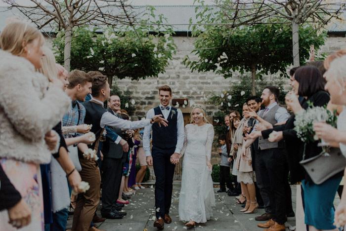 Tenue robe boheme mariage robe de mariée vintage belle mariée