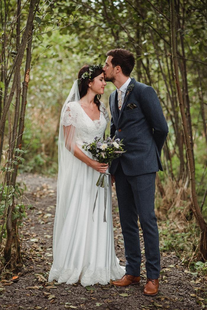 Mariage robe de mariée originale mariage champetre robe longue blanche