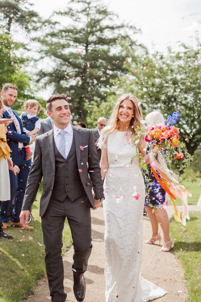 Superbe robe de mariée fluide robe de mariée simple