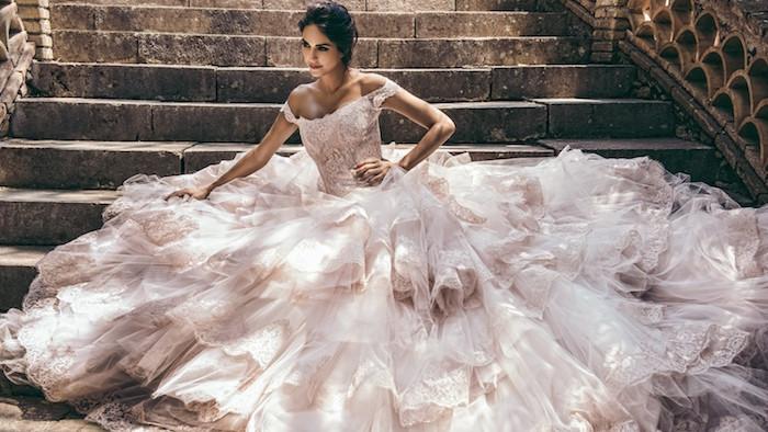 robe de mariée de luxe de princesse pour mariage haut de gamme