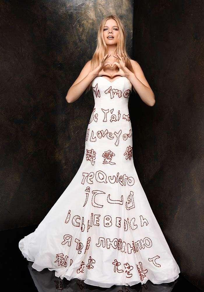 créer robe de mariée originale blanche avec broderie perso, tenue originale femme mariage