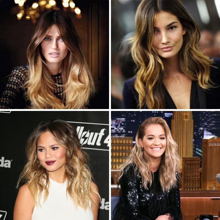 1001 mod les de coloration ombr hair blond parfaite - Tie and dye cheveux boucles ...