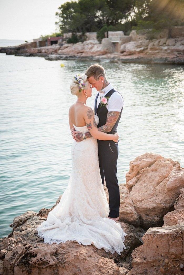 Robe de mariée simple tendance 2018 robe de mariée bohème dentelle