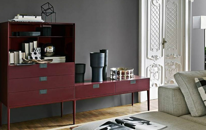 1001 id es comment adopter la couleur lie de vin l 39 int rieur. Black Bedroom Furniture Sets. Home Design Ideas