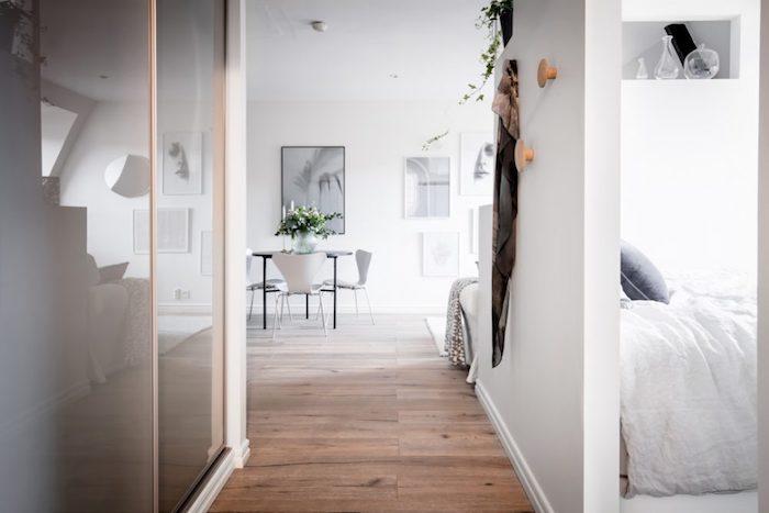 Style nordique table à manger scandinave chaises blanches meuble entree scandinave