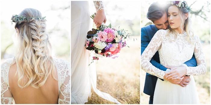 Robe champetre chic robe de mariée droite robe de mariée simple et chic