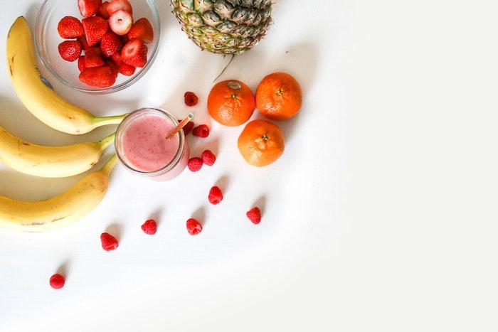 Fond ecran ordinateur fond d'écran printemps arriere plan pour fille smoothie ingrédients