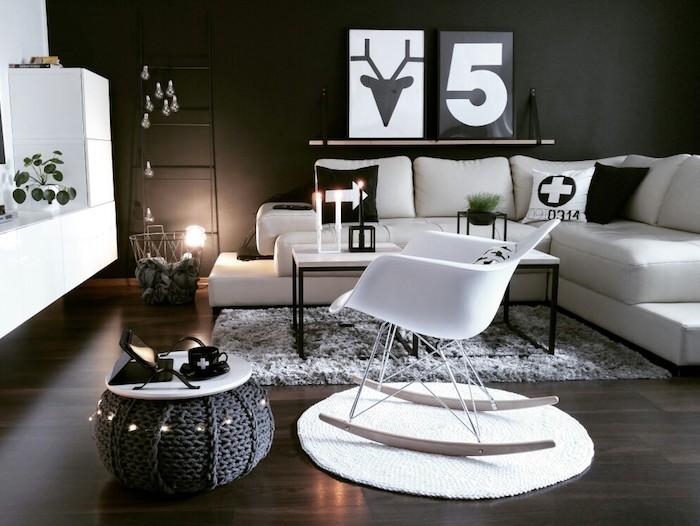 Style nordique bureau scandinave blanc meuble entree scandinave