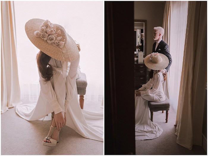 Amoureuse couple robe de mariée bohème chic robe mariage champetre