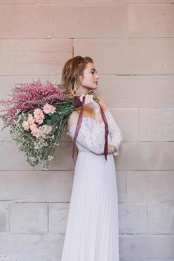 Robe de mariée simple et chic robe mariée couleur tendance 2018