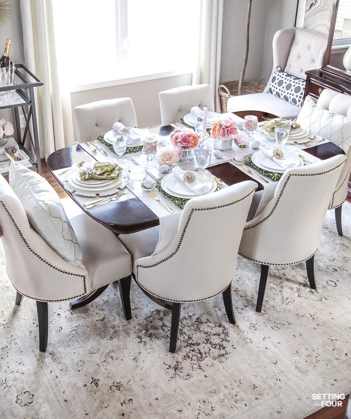 Déco de Pâques bricolage paques adorable déco salle de séjour bien aménagée salon de luxe joliment décoré pour paques