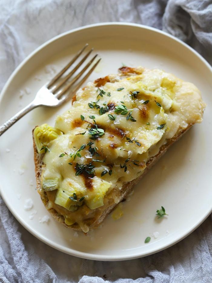 repas minceur, tartine aux courgettes et aux oignons, menu de la semaine, persil, dîner fait a la minute, menu fitness