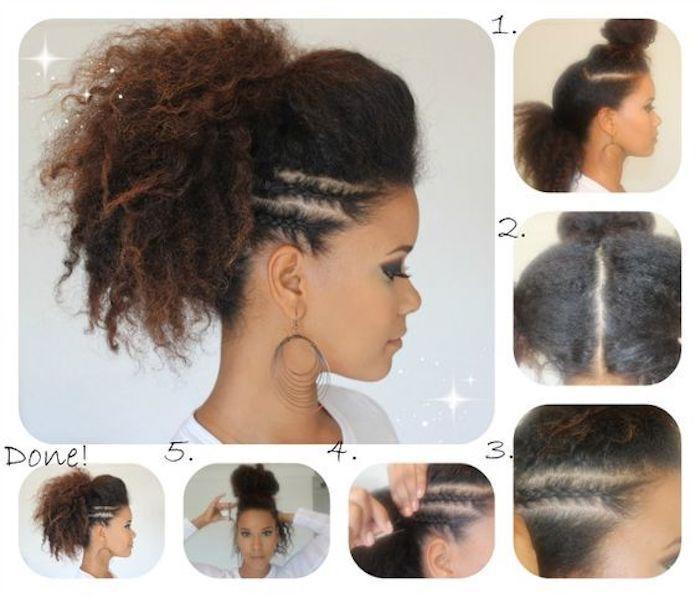Tutoriel chignon et tresses afro coupe de cheveux afro coupe de cheveux afro